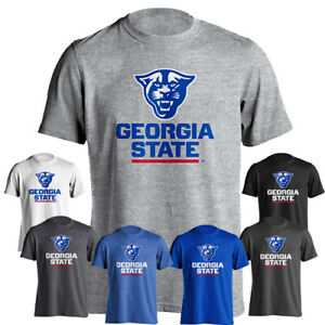 Georgia State University GSU Panther Head Athletic Wordmark Short Sleeve T-Shirt
