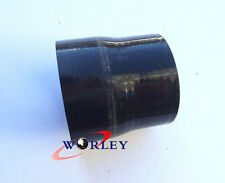"""Silicone Straight Hose Reducer  2.5"""" to 3"""" inch 64-76mm Coulper Pipe BLACK"""