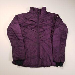 Columbia Omni-Heat Interchange Women Medium Kaleidoscope II Full Zip Plum Jacket