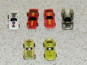 6 Hotwheels micro machines, 2 cars are 1979, the rest are in the 1980s