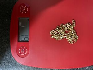 Yellow 14k solid gold figaro chain 22'', 5mm thick