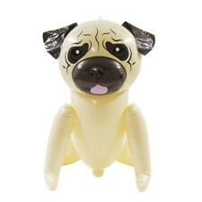 "22"" Pug Dog Inflatable Swim Pool Water Float Blow Up Party Toy Animal Floaties"