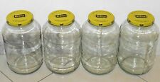 4 - 1 Gallon Wide Mouth Glass Mason Jar w/ Metal Lids Crafts Food Multi-Purpose