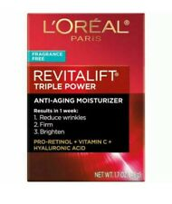 L'Oreal Paris Revitalift Triple Power Anti-Aging Moisturizer Fragrance Free NIB