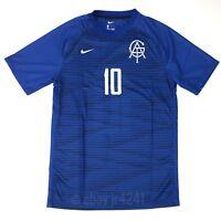 New Nike US SS Digital 18 Soccer Jersey Short Sleeve Men's Medium Blue Black