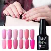 Belen Soak Off Gel Nail Polish UV LED Pink Range Base Top Coat Manicure 10ML UK