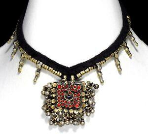 Afghan Tribal Kuchi Choker Necklace Coin Pendants Bohemian Boho Gypsy Jewelry
