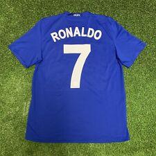 Nike 2008 2009 Manchester United Ronaldo Jersey Shirt Kit Blue Away Ucl Medium M