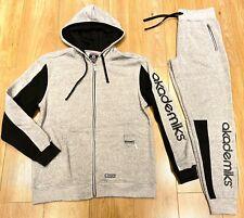 Akademiks tracksuit, urban hip hop jogging set, premium streetwear grey black