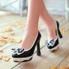 NEU Damen Schuhe  Schleife Pumps High Heels Wedges schwarz pink