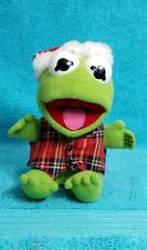 """McDonald's Baby Kermit the Frog Muppets Christmas Holiday Plush Vintage 1987 7"""""""