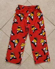 Boy's Angry Birds Pajama Lounge Pants Size 8 Red