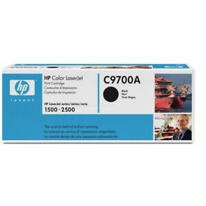 GENUINE HP C9700A NO 121A COLOR LASERJET BLACK CARTRIDGE FOR 2500TN BRAND NEW