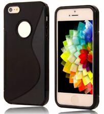 S Line Wave Tough Shockproof Case Gel Cover Skin Apple iPhone 4 /4G /4S - Black