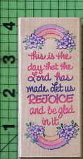 Rejoice Today N004 rubber stamp by Stampendous Religous
