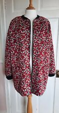 La Redoute Edition Leopard Animal Print Red Grey bomber Coat Size 16 worn once