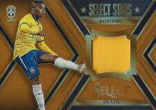 2015 PANINI SELECT SOCCER ROBINHO BRASIL 40/149 GAME WORN JERSEY RELIC