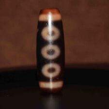 necklace pendant five eyed old tibetan dzi bead antique amulet 5 eyes genuine