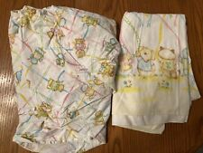 ~Vintage Dundee SHIRT TALES Crib Sheet + Receiving Blanket