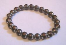 Lovely elasticated beaded silver and bronze toned