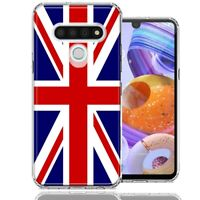For LG Stylo 6 UK England British Flag Design Double Layer Phone Case Cover