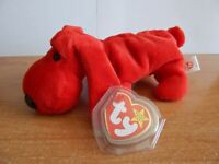 TY BEANIE BABIES ROVER THE RED DOG DOB: MAY 30,1996 MWMT P.E. PELLETS RETIRED