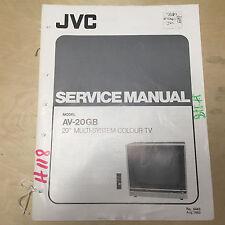 JVC Service Manual for the AV-20GB Color TV ~ Repair