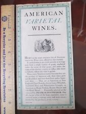 "Wines and cocktails book 1941, ""American Varietal Wines"", very rare"