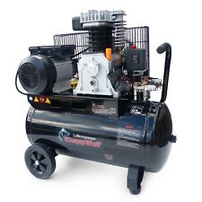KnappWulf Luftkompressor Druckluft Kompressor 50L Kessel 2200W 2Zylinder 10bar