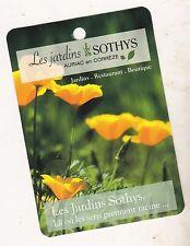 LES JARDINS SOTHYS AURIAC  - PETITE CARTE PUBLICITAIRE - EDITION VISITES PASSION