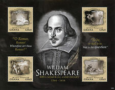 Ghana 2016 Mnh William Shakespeare 400th Memorial Anniv 4v M/S Hamlet Stamps