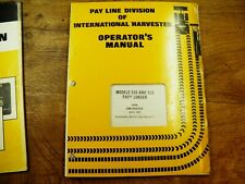 Ih 510 515 Pay loader Operators Manual