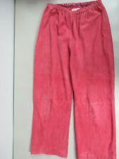 SHAMASK Suede Leather Straight leg  Elastic waist Orange Coral Pants Sz. 2