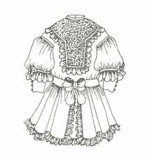 """Doll dress sewing Pattern 2 diffrent siz 17 18"""" & 20-21"""" outfit Antique Design"""