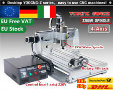 4 Axis 6040 2.2KW 220V CNC USB Mach3 Milling Drilling Engrave Router Machine【IT】