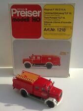 Magirus F 150 D 10 A Preiser ref 1218 1/87 Citerne Incendie + boite