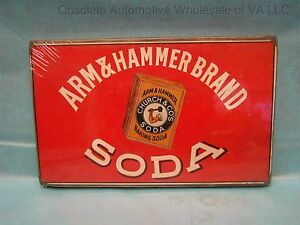 Arm & Hammer Brand Baking Soda Sign Plaque Vintage Repro Church and Co  USA
