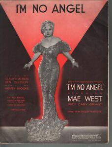 I'm No Angel 1933 Mae West I'm No Angel Sheet Music