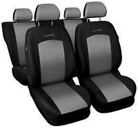 Sitzbezüge Sitzbezug Schonbezüge für Kia Carens Grau Modern MC-2 Komplettset