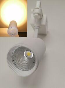 LED Tracklight Stromschienstrahler Shopstrahler 30W weiss 3 Phasen 3000 Kelvin