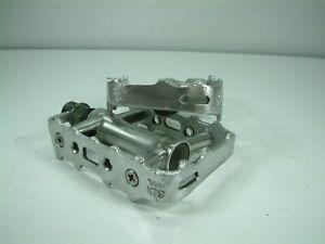 Wellgo- Lightweight Alloy Flat  Pedals 9/16 Thread -  Toe Clip Ready