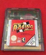 MICKEY'S RACING ADVENTURE-SOLO CARTUCCIA-Gioco Boy Color-TESTATO