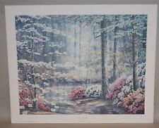 1986 Ralph Taylor Signed & Numbered 19x23 American Masters Print Dogwood Trail