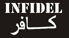 Small Infidel Decal - White