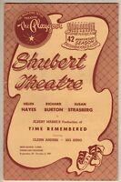 "Richard Burton Playbill ""Time Remembered"" 1954 TRYOUT Susan Strasberg"