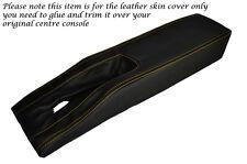 YELLOW STITCH CENTRE CONSOLE TUNNEL LEATHER SKIN COVER FITS CORVETTE C3 77-82