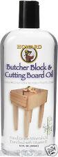 Howard Butcher Block Cutting Board Oil  12oz BBB012  Food-Grade Mineral Oil NEW!