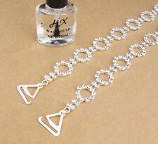 Diamante Bra Straps Circle Links Design - One Pair