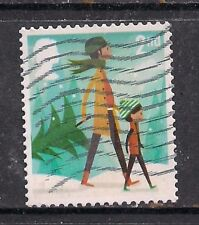 GB 2014 QE2 2nd class Christmas  used stamp SG 3650 ( F844 )
