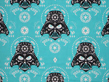 FAT QUARTER  STAR WARS DARTH VADER SKULL FABRIC QUILTING 100% COTTON MATERIAL FQ